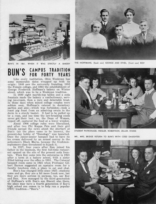 Ohio Wesleyan Magazine: Bun's--campus tradition for forty years